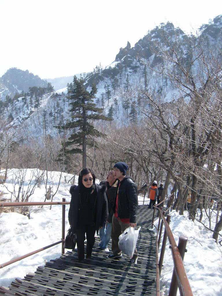 설악산 권금성휴게소 계단